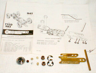 (1) Kemtron Chassis Kit for Tyco 902 Motor #1665 Slot Car Original Vintage NOS
