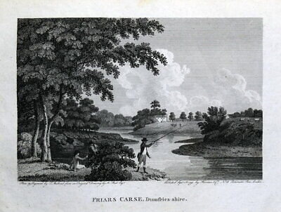 FRIAR'S CARSE, DUMFRIES, SCOTLAND Original Antique Print 1793