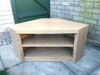 Next Corner Tv Stand. Oak Effect. Good Condition for sale  Polwarth, Edinburgh
