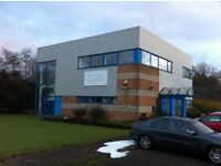 TO LET: 2 AFFORDABLE OFFICES (SUIT 2-12 DESKS) IN SMART BUILDING WITH PRIVATE PARKING & SHOWER