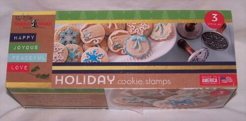 Nordic Ware Christmas Winter Holiday Cast Cookie Stamps, Set of 3 2011 Edition