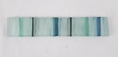 Artistic Glass Tile frost multi color Border 1.5 x 7-3/4