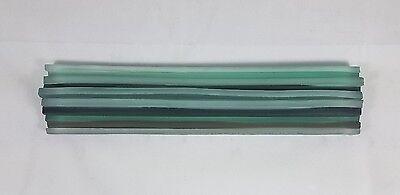 Artistic Glass Tile frost multi color Border 2 x 9-1/8