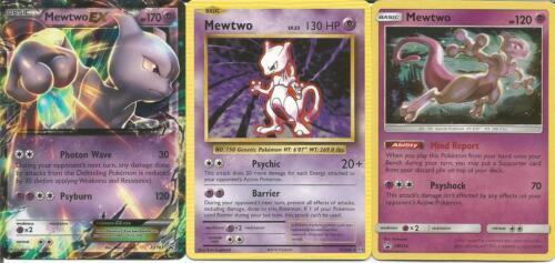 Pokemon Mewtwo Lot - 51/108 Rare  - Sm214 Holo - Xy183 Ex- Nm/m