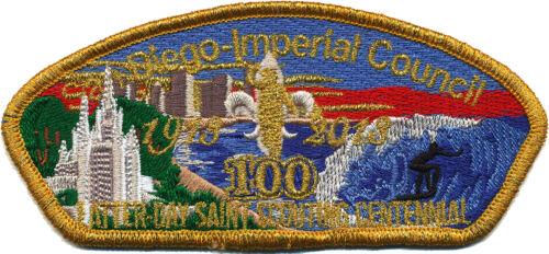 Boy Scout Patch: San Diego-Imperial Council LDS Centennial CSP (BSA Mormon 100)