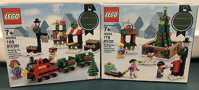 Lego Seasonal 40262 40263 Christmas Train Ride Town Square New Sealed Free Ship!