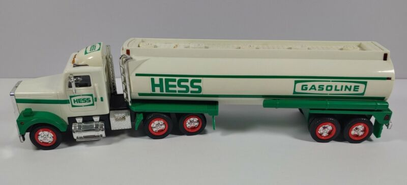 """1990 Hess Toy Gasoline Tanker Truck With Lights And Sound Approximately 15"""" Long"""