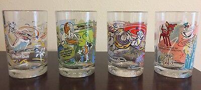 Disney Glass Cups (McDONALDS Disney World 100 Years of Magic 25th Anniversary Cups Glasses Set of)