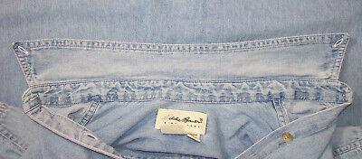 Chemise femme en jean eddie bauer (usa), taille m --- (cj_200)