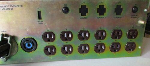 100A 3ph Power Distro w road case 12 circuits edison + L21-30 cam lok RGN input