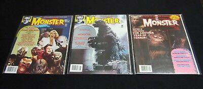 MonsterLand-Forrest J Ackerman-#s 1, 3 & 8-Lot of 3-VF-MINT