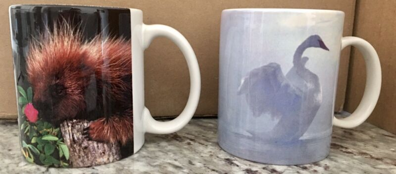2 Frontier Airlines Coffee Mugs