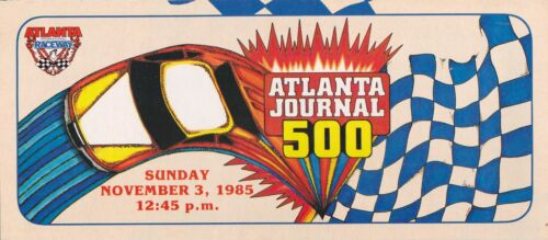 1985 Atlanta Journal 500 Winston Cup Race Brochure