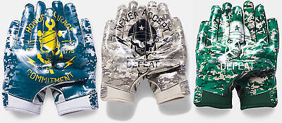 Under Armour Mens Ua Army Navy Camo Limited Le F5 Adult Football Receiver Gloves