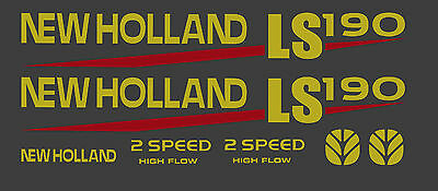 New Holland Ls190 Skid Steer Decal Kit For Your Loader Ls 190 Free Shipping