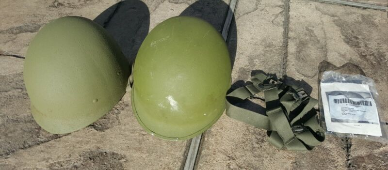 *NEW* ARMY M1 STEEL HELMET SET WITH EXTRA CHIN STRAP AND SUSPENSION