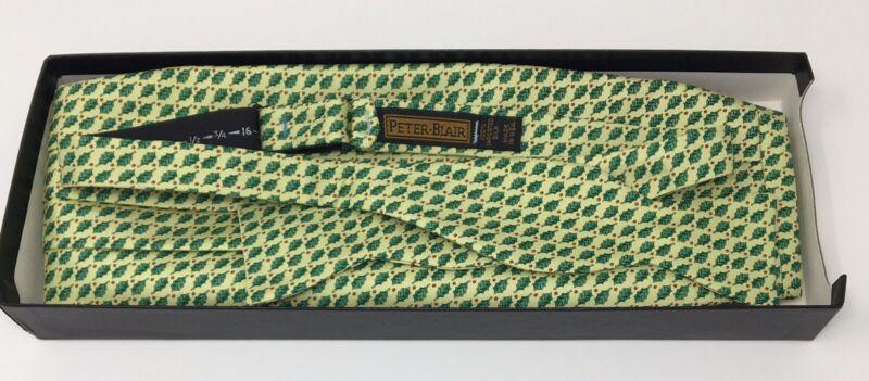 Peter-Blair Holly Print Christmas Bow Tie Cummerbund Set