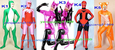 New 5 Style Lycra Cat & Fox Catsuit Costumes Unisex Animal Modeling Suit - Fashion Model Halloween Costumes