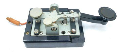 Vintage Antique German Telegraph Key Junker Honnef/rh D.B.G.M Morse Code Key