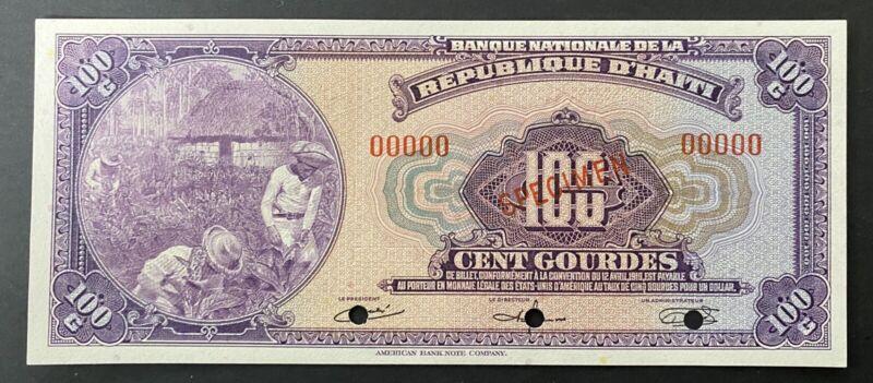 Haiti Specimen Banknote P 184s