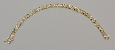 10k Yellow Gold Natural 0.60 ctw Diamond Tennis Bracelet 7.25 Inches, used for sale  Shipping to South Africa