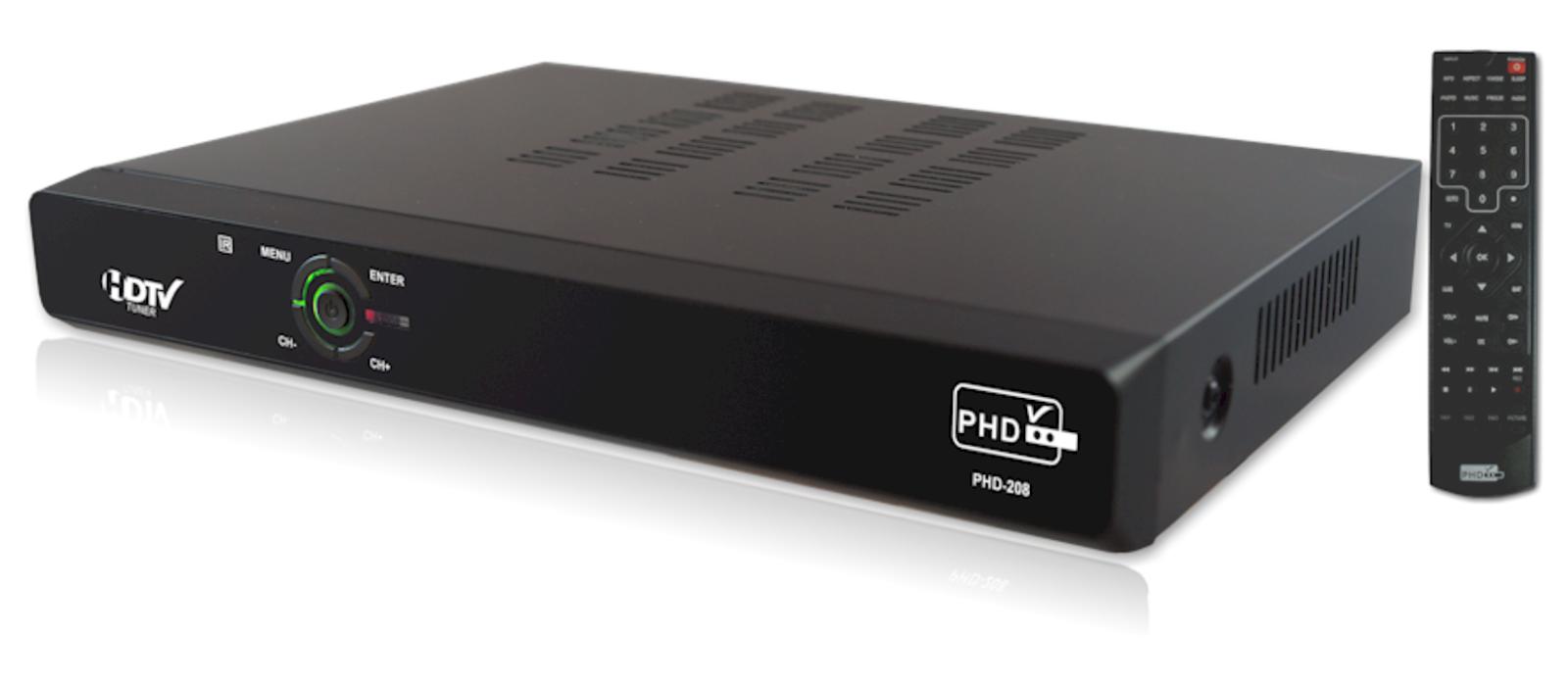 Primedtv Phd-208 Full Hd 1080p Atscqamntsc Digital Hdtv Tuner Receiver Box