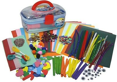 CHILDREN KIDS MISTER MAKER ART & CRAFT CHEST CREATIVE DESIGN SET