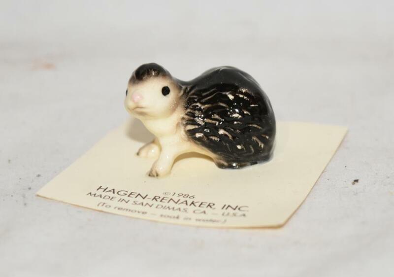 Hagen Renaker Mini Hedgehog Figurine on Original Card