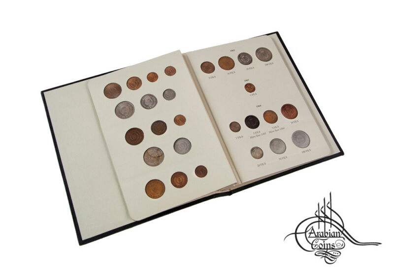 Jordan 1949-1967 Coin Album inc. 1955 1960 1962 1964 1965