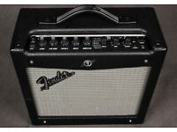 Fender Mustang I V2 Modelling Amp - immaculate, plus free guitar stand, lead and USB cable