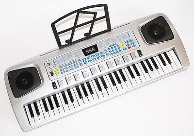 54 Tasten Kinder Keyboard Piano mit Mikrofon, Netzteil, Notenauflage