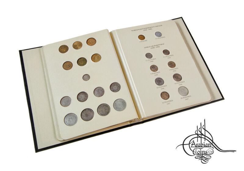 Syria 1920-1960 Coin Album inc. 1921 1929 1933 1935 1936 1937 1940 1948 1956 etc