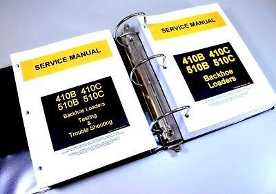 Set John Deere 410b 510b 410c 510c Backhoe Service Repair Manual With Testing