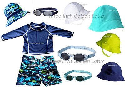 CLEARANCE!!~CUTE Baby/Infant Toddler Boys Swim Shorts~Rashguard~Sun Hat~Sunglass](Toddler Clearance)