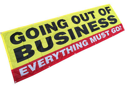 Going Out Of Business Banner Sign Vinyl Alternative 3x10 Ft - Fabric Yb