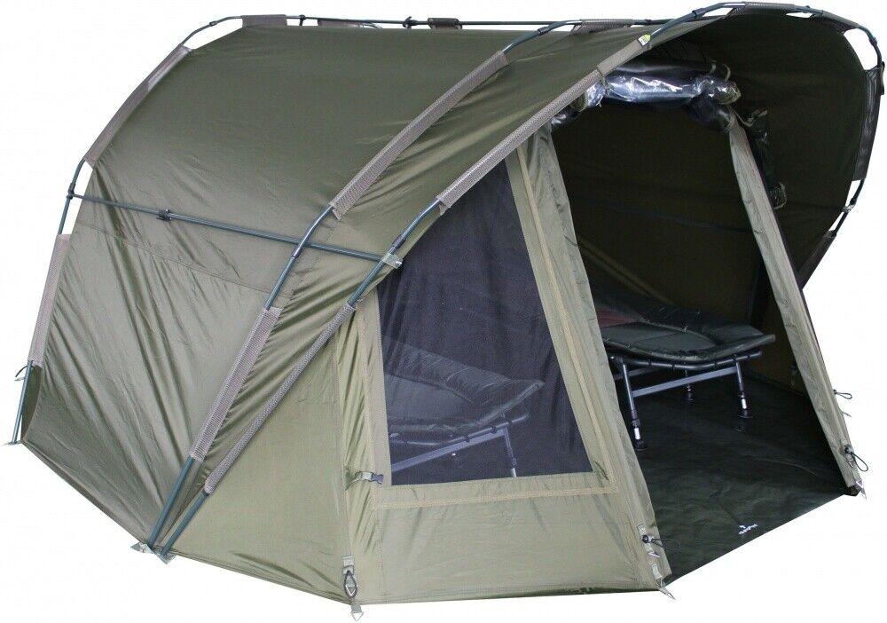 MK 2 Mann Angelzelt Fort Knox Solid Bivvy Shelter Carp Dome