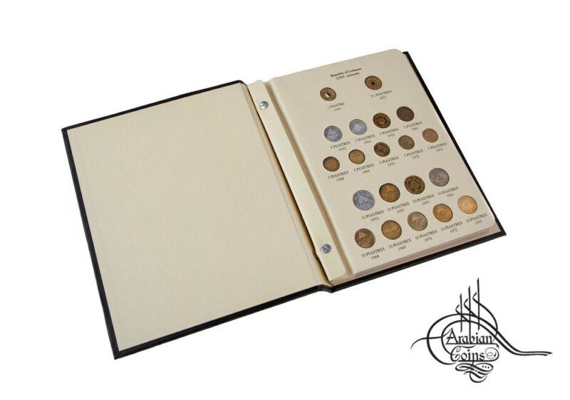 Lebanon 1952-2009 Coin Album inc. 1954 1955 1961 1968 1969 1975 1978 1981 etc