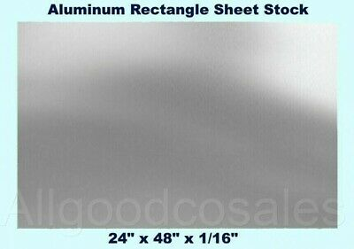 Aluminum Rectangle Sheet Stock 24 X 48 X 116 3003 Alloy Mill Finish Plate