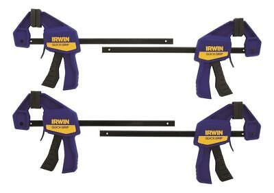 Irwin Quick Clamps ((4 CLAMPS) Irwin Industrial Tool 1964758 Mini Quick-Grip Bar Clamps, 4-Pk.)