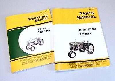 Operators Parts Manual Set For John Deere M Mi Tractor Owner Catalog