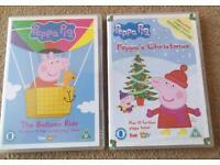 PEPPA PIG DVD x2 The baloon ride , Peppa's christmas