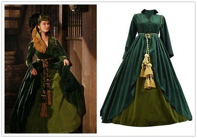 Gone with the Wind Cosplay costume women Scarlett O'Hara Dresses cosplay costume (Scarlett Ohara Costume)