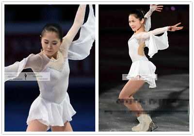 Skating Dresses-girls Ice Figure Skating Dress Twirl/dance/roller/dance/costume Ch Sm 6-8 Blk Velvet
