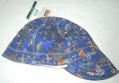 Kt Industries 4-3123b Blue Design Welding Cap Comeaux Size 7 78 100 Cotton