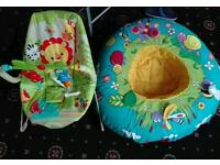 Baby bouncer and sit up ring