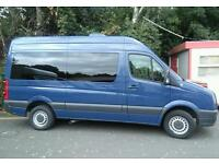 Volkswagen Crafter cr39 blue tdi 109 mwb 15 seater mini bus roof air con