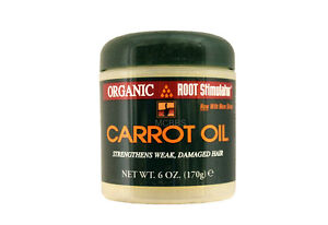 ORGANIC ROOT STIMULATOR CARROT OIL FOR DAMAGED HAIR 6 OZ.