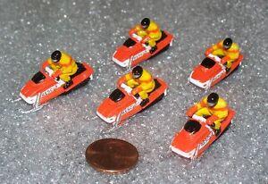 Lot-of-5-Micro-Machines-SNOWMOBILE-miniature-NEW