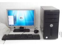 Gaming PC + 10 Games + 1GB HD 4850 (i5, Monitor, K/M, Fortnite, Office 2013, Dell, Radeon) Computer