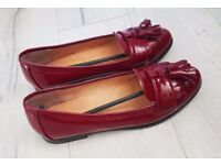 BRAND NEW! Womens Red Patent Tassel Loafers, Size 38